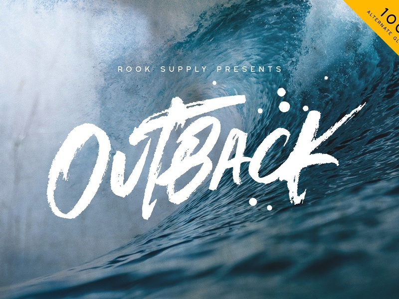 Outback Brush Font lettering typography modern script font halloween font brush pen textured paint brush marker font hipster font cyberpunk font hand lettered branding bold scribble outback brush font brush font brush outback