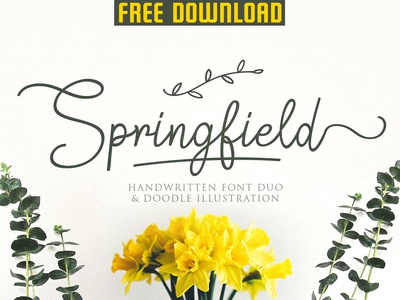 FREE DOWNLOAD - Springfield | Fontduo+Extras