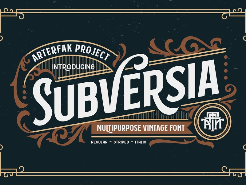 Subversia by Fonts Collection on Dribbble