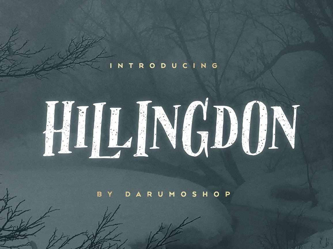 Hillingdon Font + Extras by Fonts Collection on Dribbble