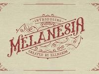 Melanesia Font and Free Illustration