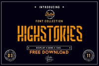 FREE Download - Highstories Family - Extra SVG font