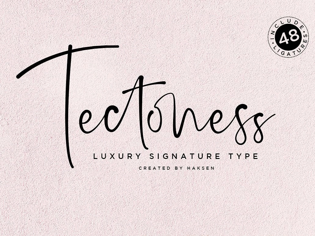Tectoness Elegant Script by Fonts Collection on Dribbble