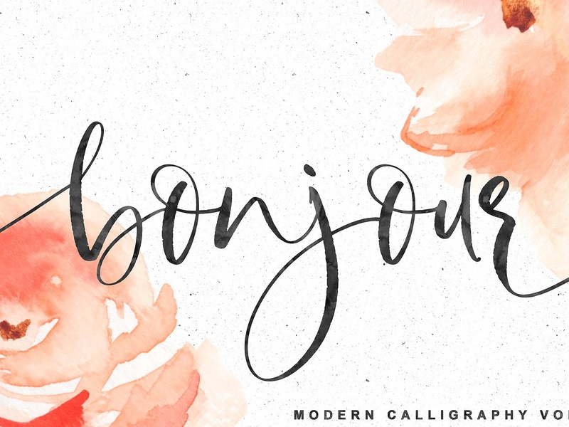 Bonjour Modern Calligraphy By Fonts Collection On Dribbble