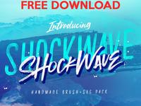 Free Premium Font - Shockwave SVG Collection