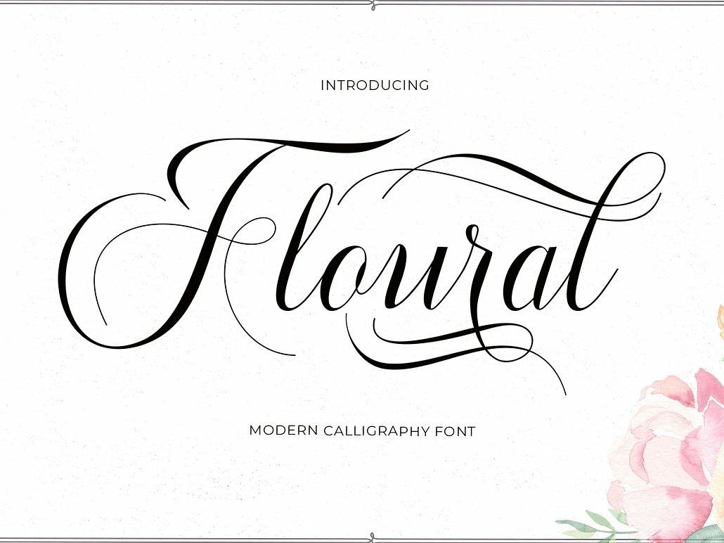Floural Script elegant typeface lettering typography logo modern calligraphy branding font cursive fancy flower floral font floural floral modern calligraphy modern calligraphy font script typeface script font script