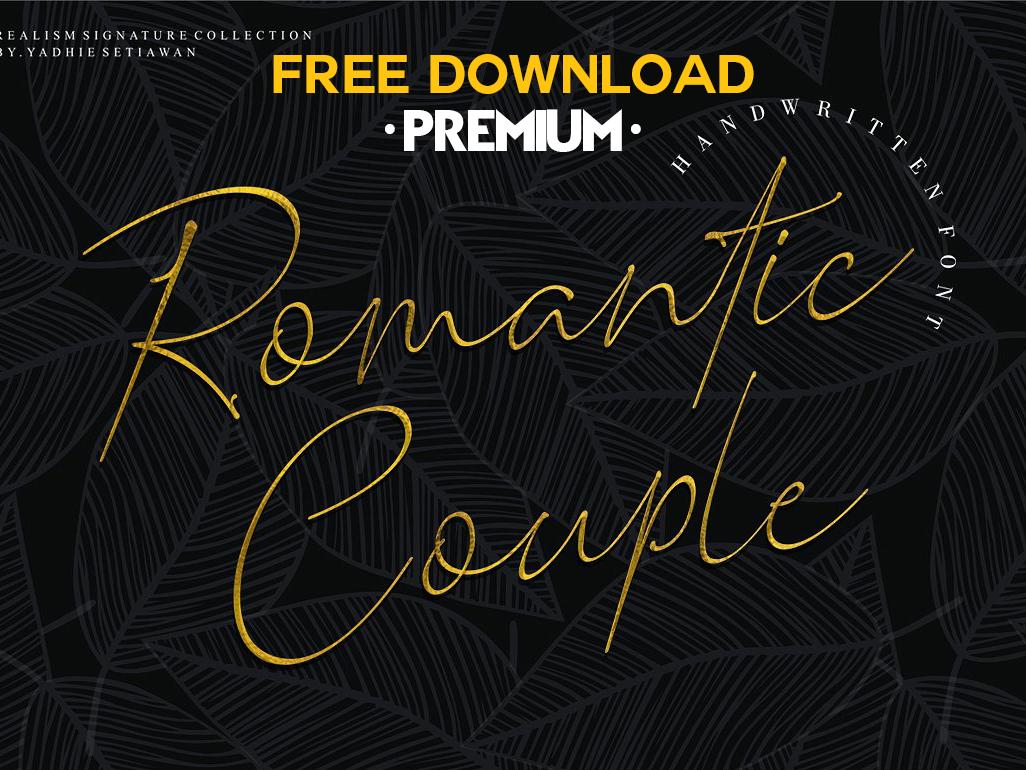 Free Premium Download - Romantic Couple // Elegant Signature by