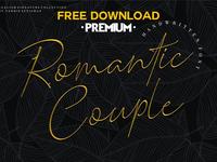 Free Premium Download - Romantic Couple // Elegant Signature