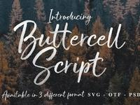 Buttercell Script + SVG Font