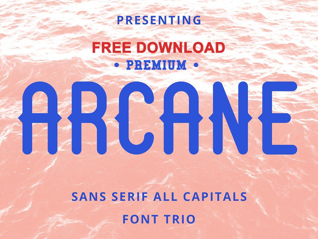 Free Premium Download - Arcane Sans Font Trio by Fonts