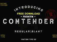 Free Premium Download - Contender Vintage Font - 2 Styles