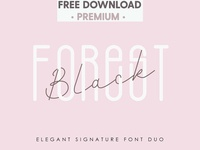 Free Download - Black Forest l Elegant Font Duo