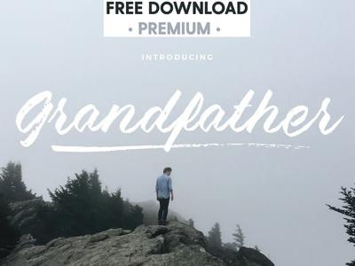 Free Premium Download - Grandfather - Brush Script