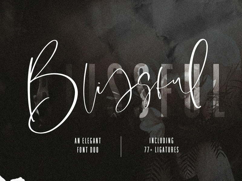 Blissful Elegant Font Duo by Fonts Collection on Dribbble