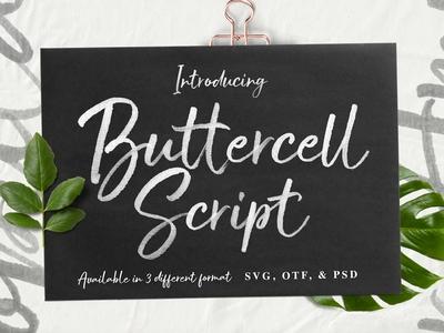 Buttercell SVG Brush Font