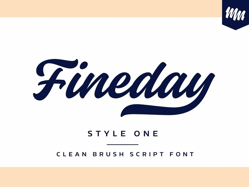 Fineday - Style One by Fonts Collection on Dribbble