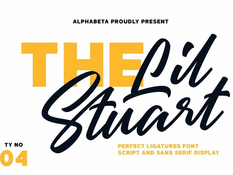 Lil Stuart elegant typeface lettering typography modern calligraphy logo branding font fresh poster cursive stylish logo  font contemporary perfect script font sans serif font sans serif script