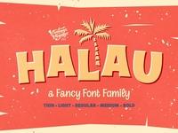 Halau • A Fancy Font Family
