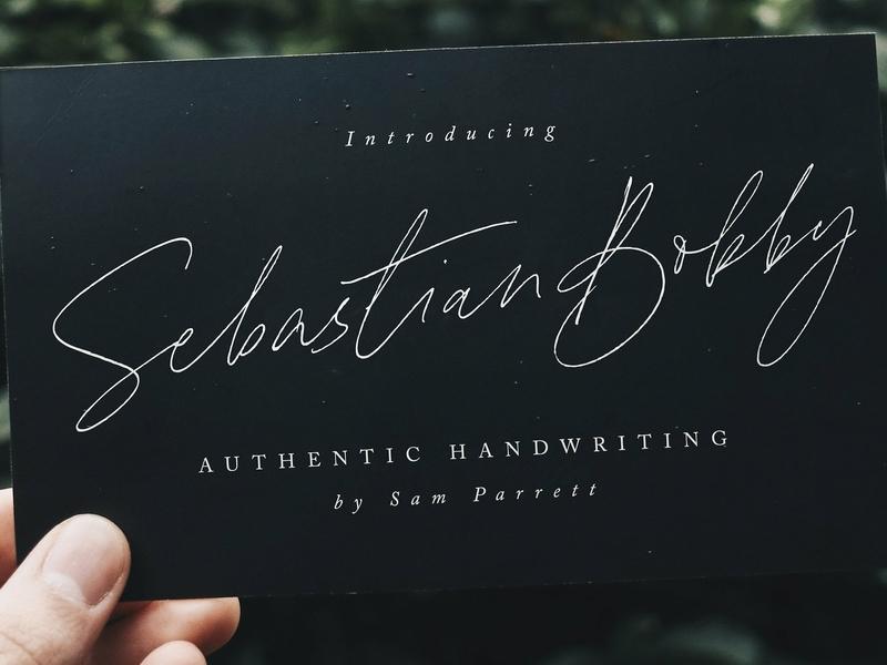 Sebastian Bobby Handwritten Font script font fonts collection modern calligraphy elegant typeface lettering typography modern calligraphy script logo branding handwriting font stylish authentic font handwriting handwritten handwritten typeface handwritten font