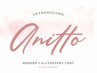 Anitto - Calligraphy Font (30%OFF)