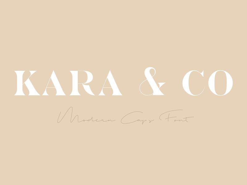 Kara & Co - Fashion Serif Font modern calligraphy typeface lettering typography calligraphy logo branding monogram fonts chic caps soft modern feminine fashion typeface font serif font serif fashion font fashion fashion serif font