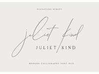 Juliet Kind Font DUO