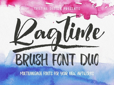 Ragtime - Brush Font Duo