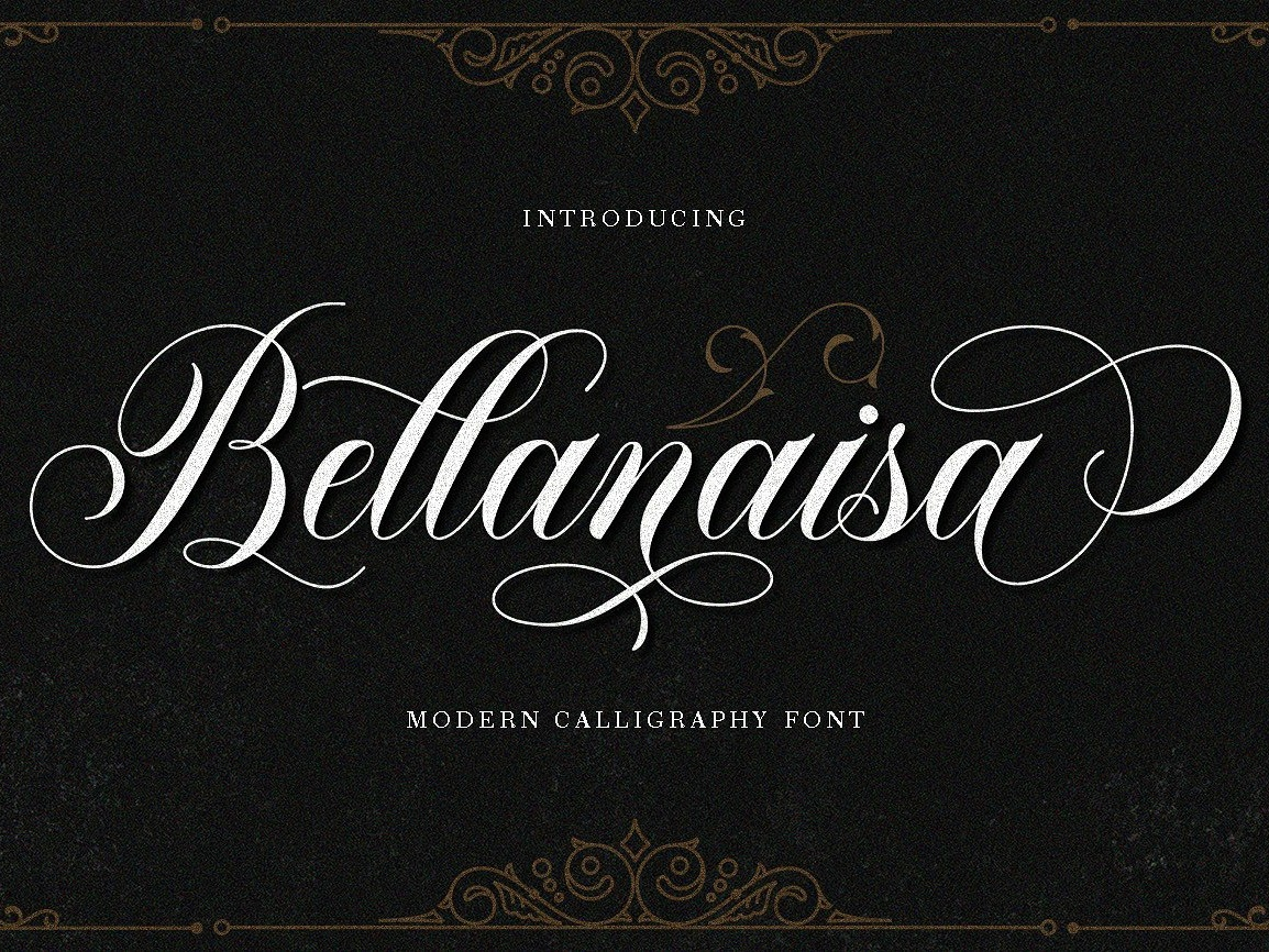 Bellanaisa ~ 30% Off signature fonts collection typeface lettering typography calligraphy script logo branding font style romantic classy invitation elegant modern calligraphy font modern calligraphy calligraphy font modern fresh