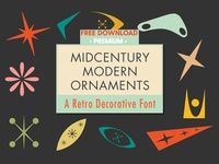 Free Premium Download - Mid-Century Modern Ornaments Font