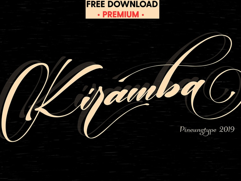Free Premium Download - Kiramba by Fonts Collection on Dribbble