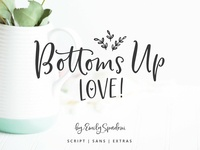 Bottoms Up Love Font Duo ♥ Extras
