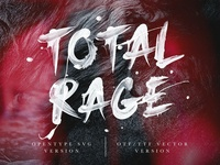 Total Rage - SVG Font - INTRO SALE