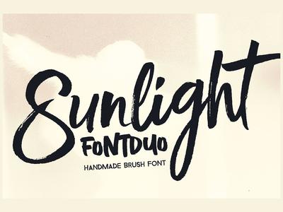Sunlight - Brush Font Duo