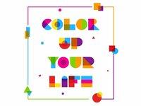 Garis lengkung color font 4