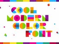 Garis lengkung color font 2