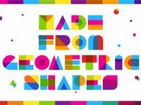 Garis lengkung color font 3