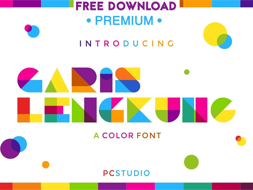Free Premium Download - Garis Lengkung - Colorful Font lettering typography logo branding font vector font decorative font decorative creative cool typeface fontself geometric square overlay display colorful colorful font color font color