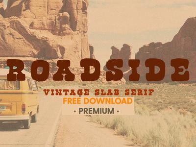 Free Premium Download - Roadside   Vintage Slab Serif