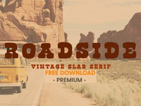 Free Premium Download - Roadside | Vintage Slab Serif