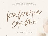 Paperie Creme Stylish Script Font