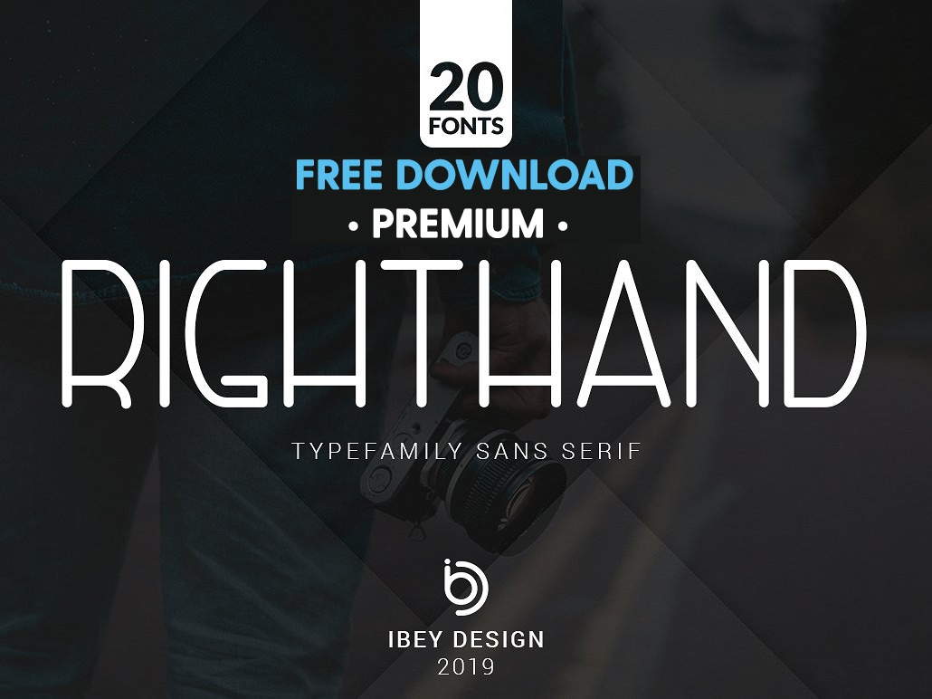 Free Premium Download - RightHand - 20 Fonts Included modern calligraphy elegant script typeface lettering calligraphy typography modern logo branding font sans serif font sans serif regular bold fonts collection font family type family monoline