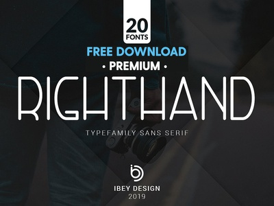 Free Premium Download - RightHand - 20 Fonts Included