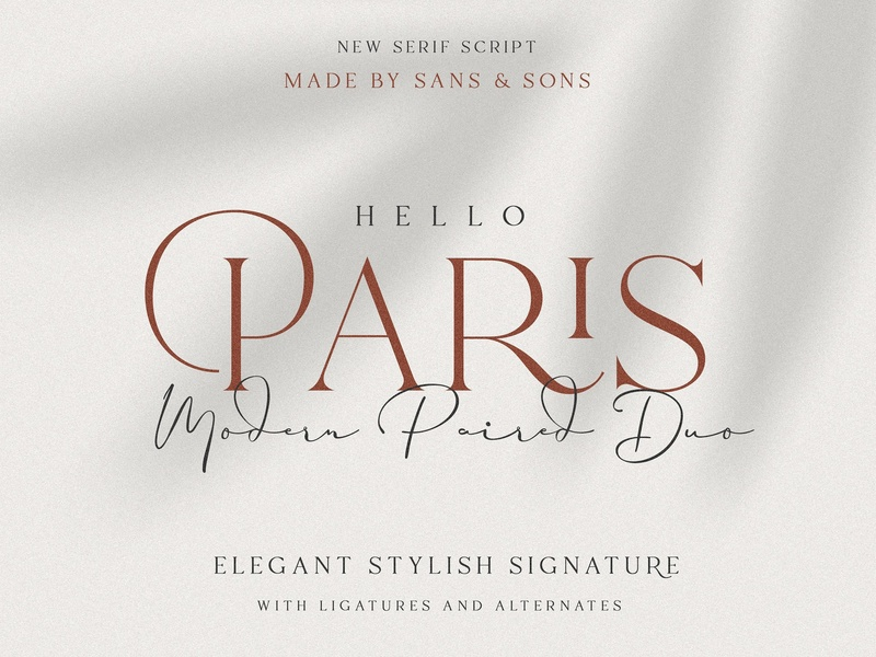Hello Paris | Modern Paired Duo handwritten fonts collection typeface logo lettering typography script branding font modern calligraphy signature stylish calligraphy elegant font duo modern paired duo modern font modern paris font hello paris
