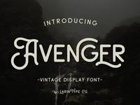 Avenger - Vintage Display Font