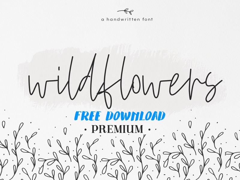 Download ( Free Premium Download ) Wildflowers - A Handwritten Font ...