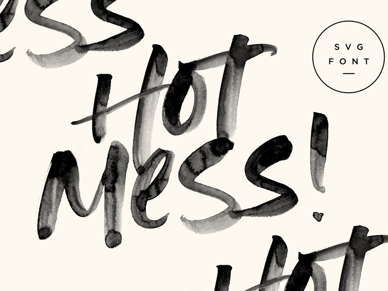 Hot Mess! SVG Font by Fonts Collection on Dribbble
