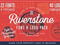 Riverstone Font & Logo Template Pack