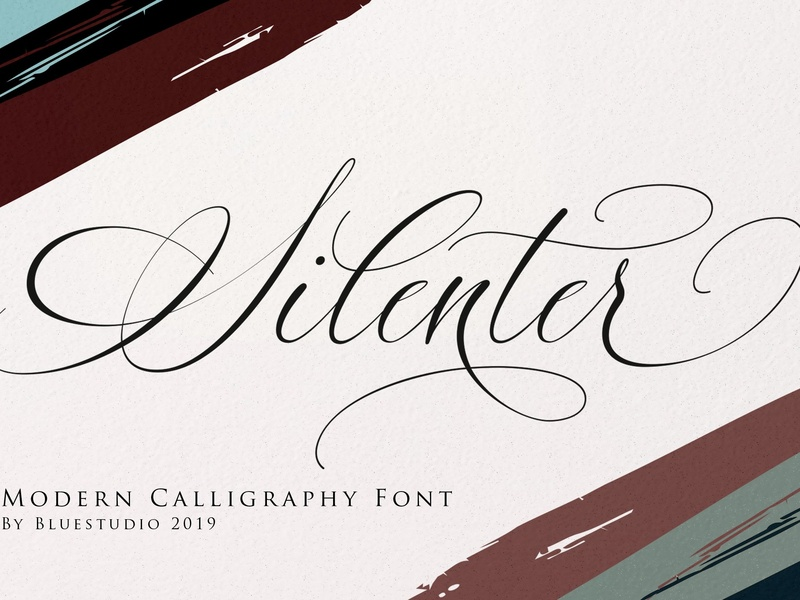 Silenter / Modern Calligraphy Font by Fonts Collection on