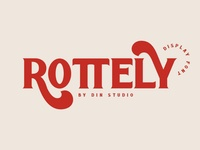 ROTTELY - DISPLAY FONT