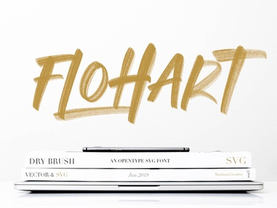 Flohart Svg Brush Font